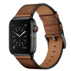 High quality Leather loop Band Elegant Compatible with Apple Watch 6 SE 5 4 3 2 1 42mm 44mm 40mm 38mm Sport Edition Replacement Brown